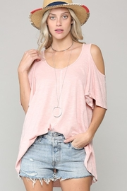 KyeMi Cold Shoulder Top - Product Mini Image