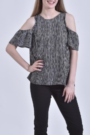 Mud Pie Cold-Shoulder Top - Front cropped