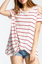 Cherish Cold Shoulder Top - Product Mini Image