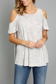 Mod-o-doc Cold Shoulder Top - Front cropped