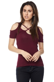 Ambiance Cold Shoulder Top - Product Mini Image