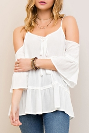 Entro Cold Shoulder Top - Product Mini Image