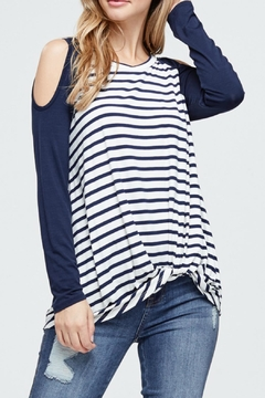 White Birch Cold Shoulder Top - Product List Image