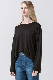 Double Zero Cold Shoulder Top - Product Mini Image