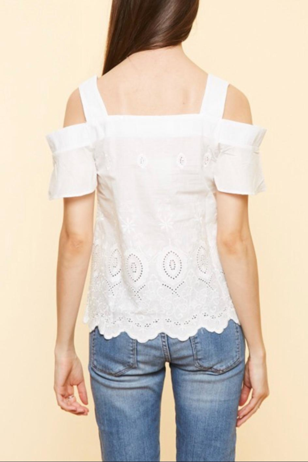 Available Cold Shoulder Top - Front Full Image