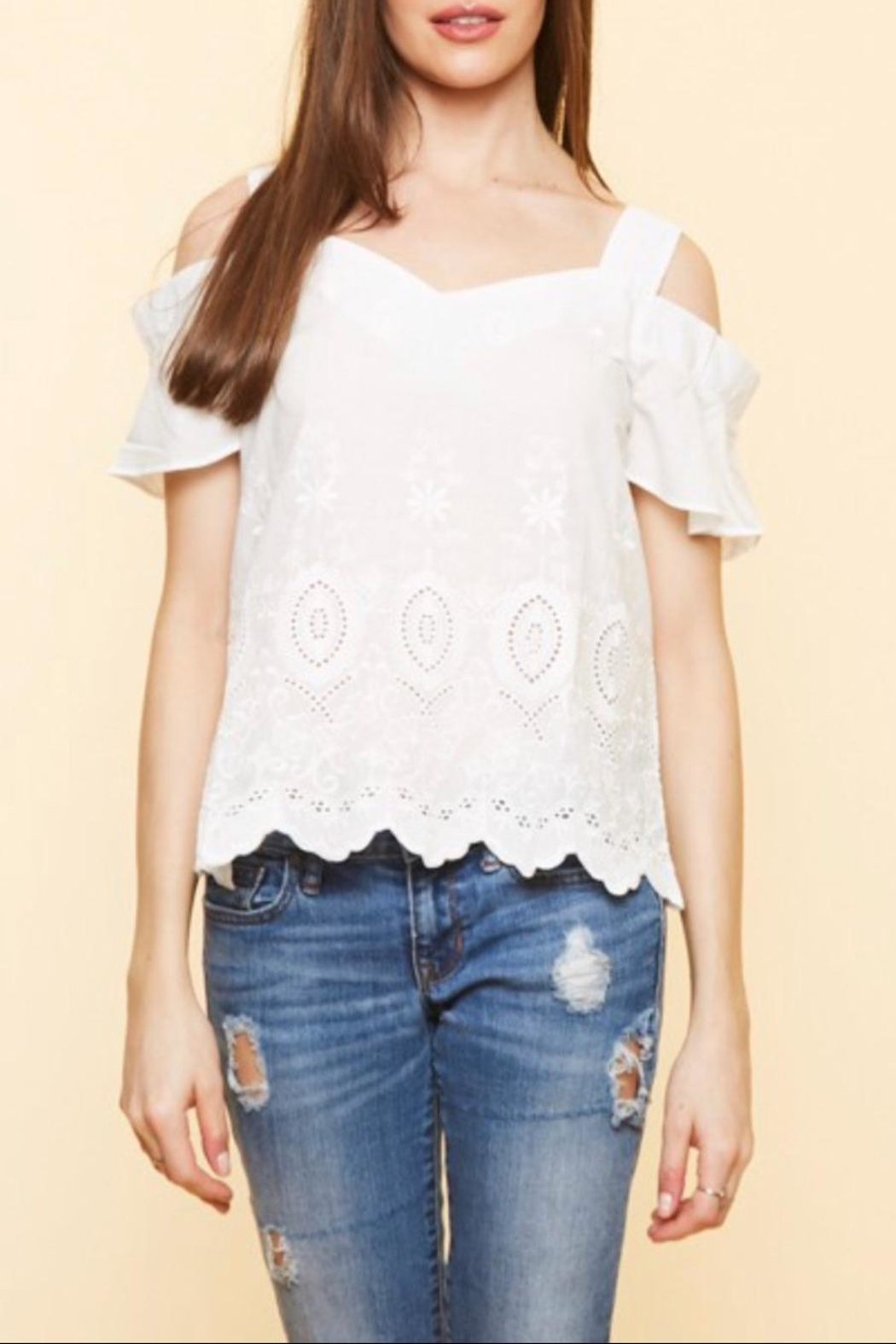Available Cold Shoulder Top - Main Image
