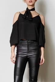 Pink Martini Cold Shoulder Top - Front cropped