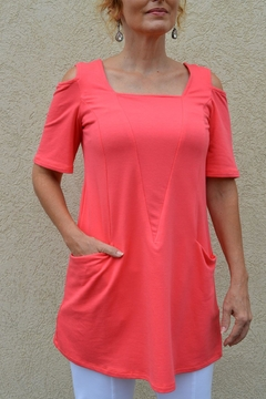 Pure Essence Cold Shoulder Tunic - Product List Image