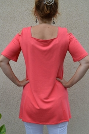 Pure Essence Cold Shoulder Tunic - Front full body