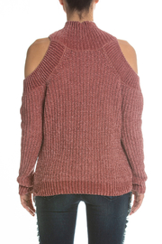 Elan Cold Shoulder Turtle Neck sweater - Product Mini Image