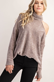 FSL Apparel Cold Shoulder Turtle Neck Top - Front cropped