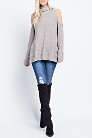 Wild Lilies Jewelry  Cold Shoulder Turtleneck - Product Mini Image