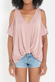 Soprano Cold-Shoulder Twist-Knot Top - Product Mini Image