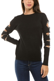1 Funky Coldshoulder Bead Sweater - Product Mini Image