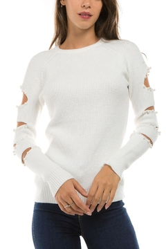 1 Funky Coldshoulder Bead Sweater - Product List Image