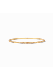 Julie Vos Colette Bead Bangle Gold Medium - Front cropped