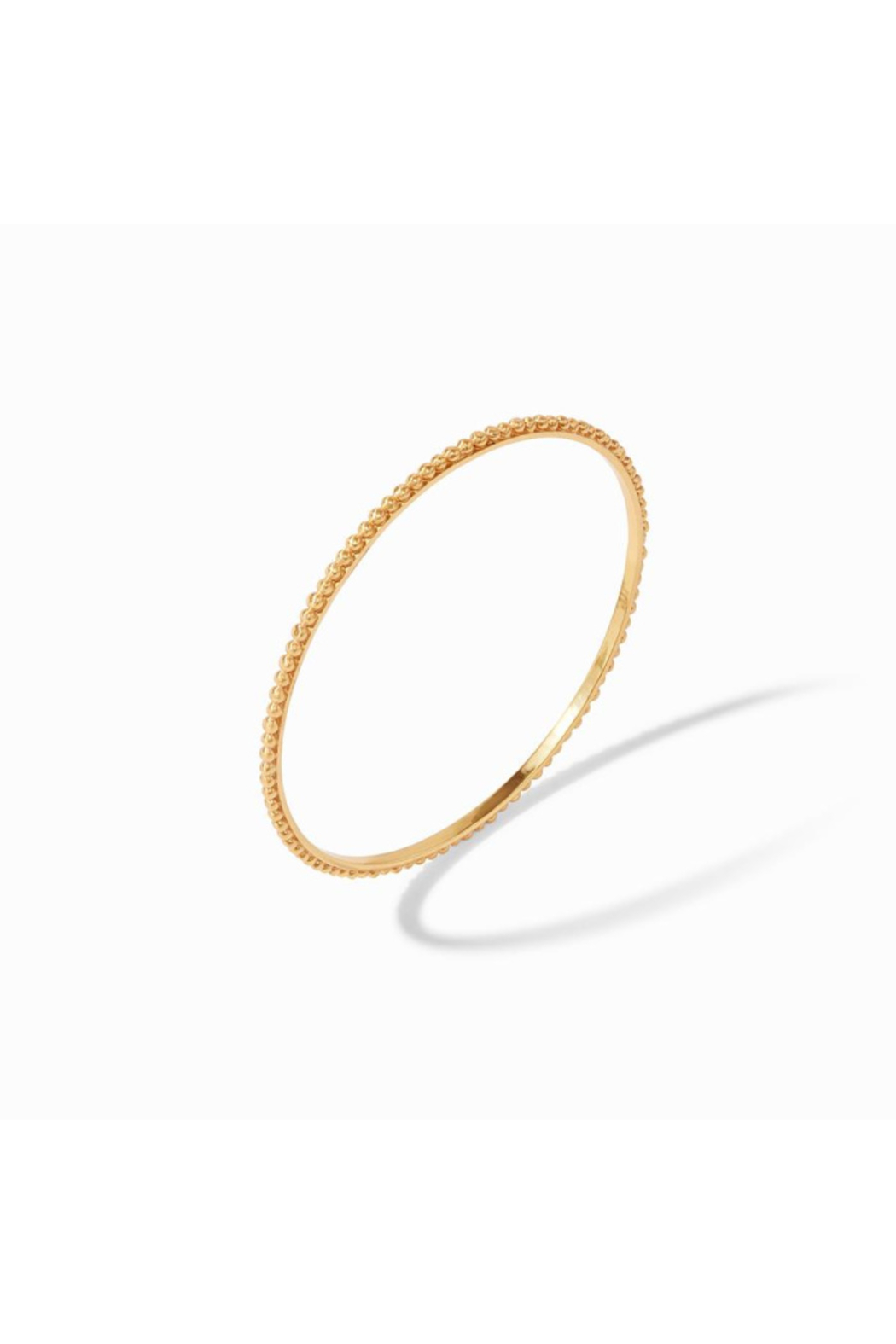 Julie Vos Colette Bead Bangle Gold Medium - Front Full Image