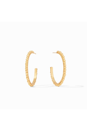 Julie Vos Colette Bead Hoop Gold Medium - Front cropped