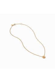 Julie Vos Colette Delicate Necklace Gold Pearl - Front full body