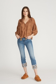Driftwood Colette Embroidered Cherokee Hem Jean - Product Mini Image