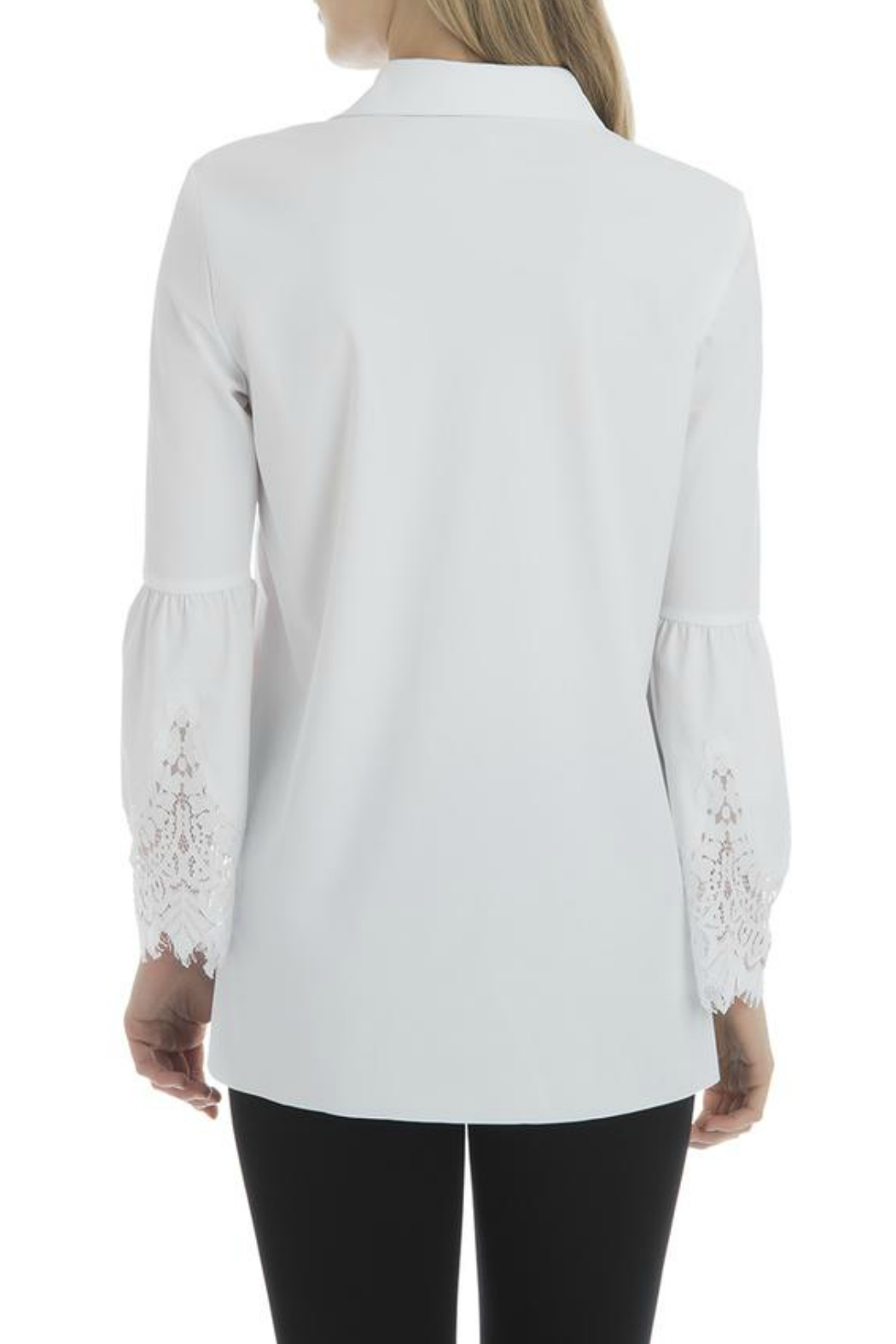 Lysse Colette Lace Sleeve Button Down - Side Cropped Image