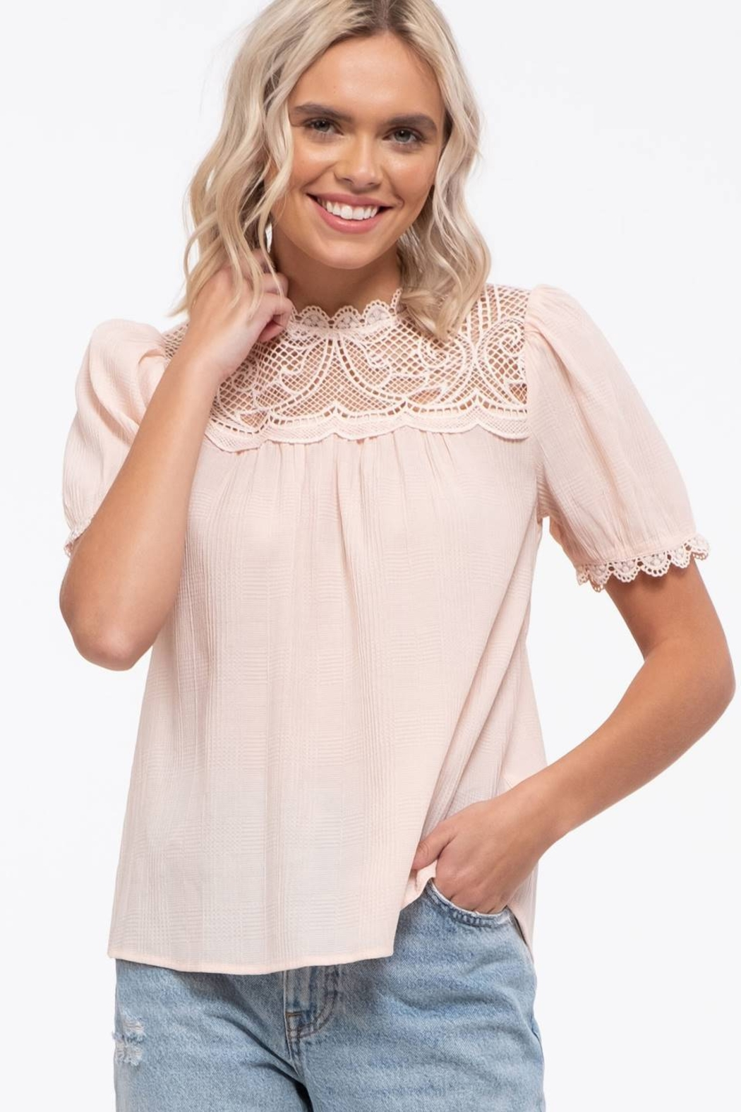 By the River Colette Lace Top - Front Full Image