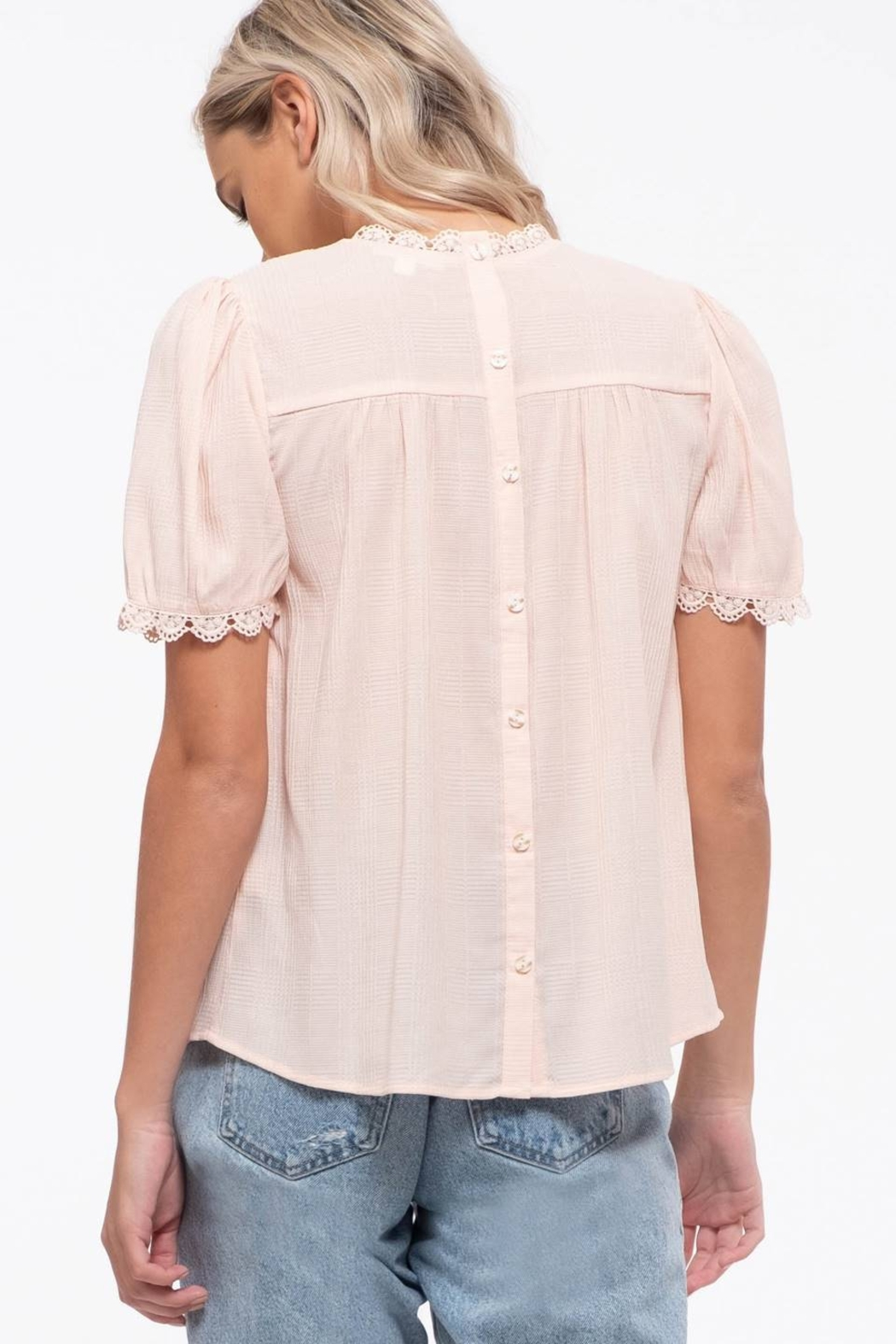 By the River Colette Lace Top - Back Cropped Image