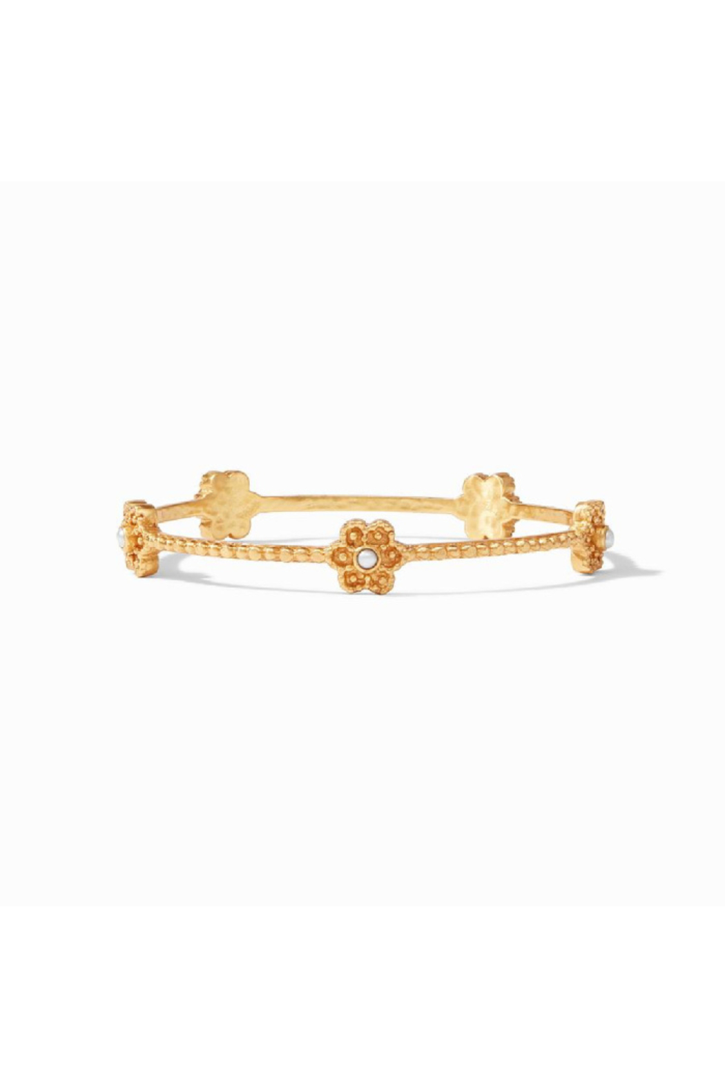 Julie Vos Colette Pearl Bangle Gold Pearl Small - Main Image