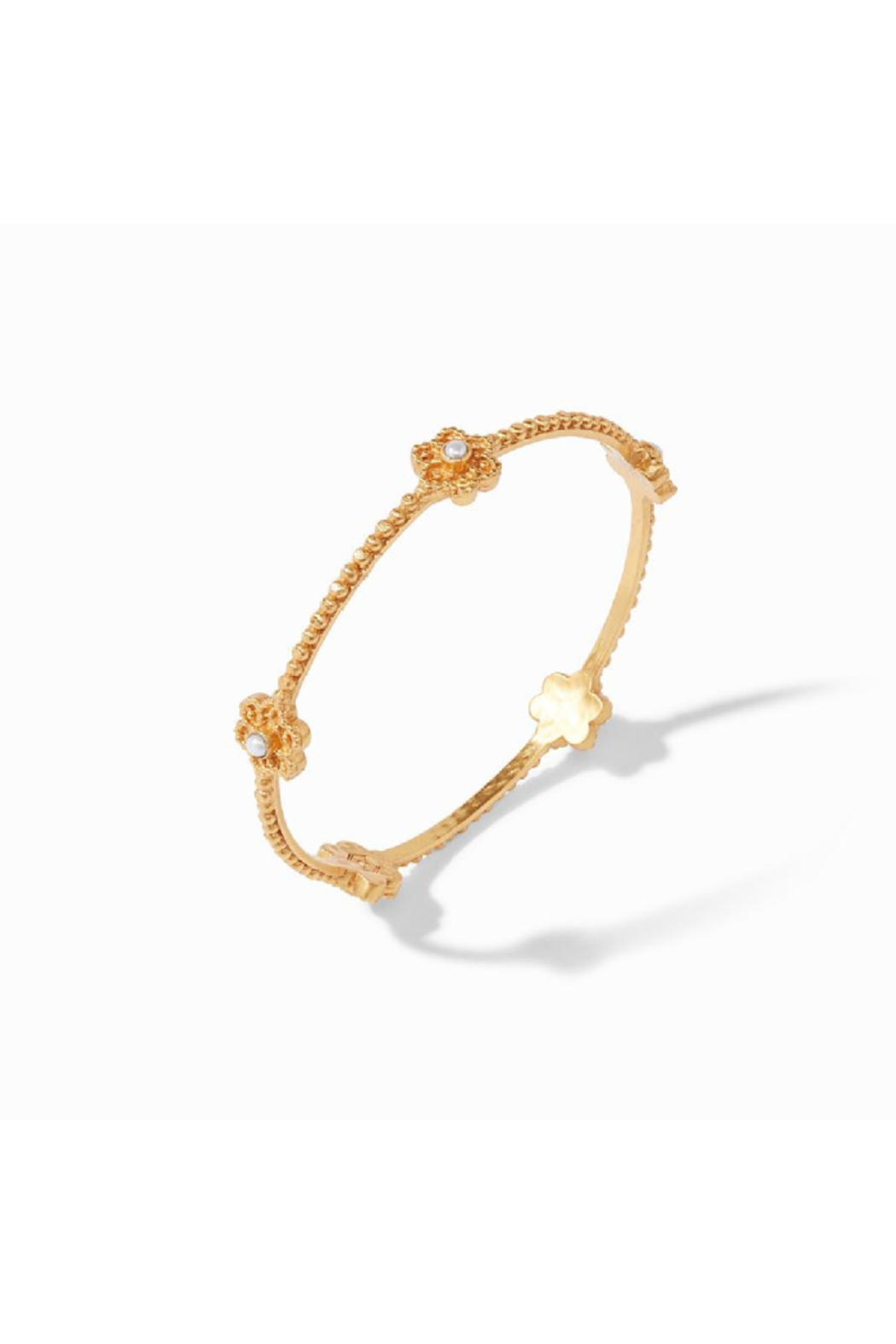 Julie Vos Colette Pearl Bangle Gold Pearl Small - Front Full Image