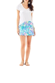 Lilly Pulitzer Colette Scallop-Hem Skort - Back cropped