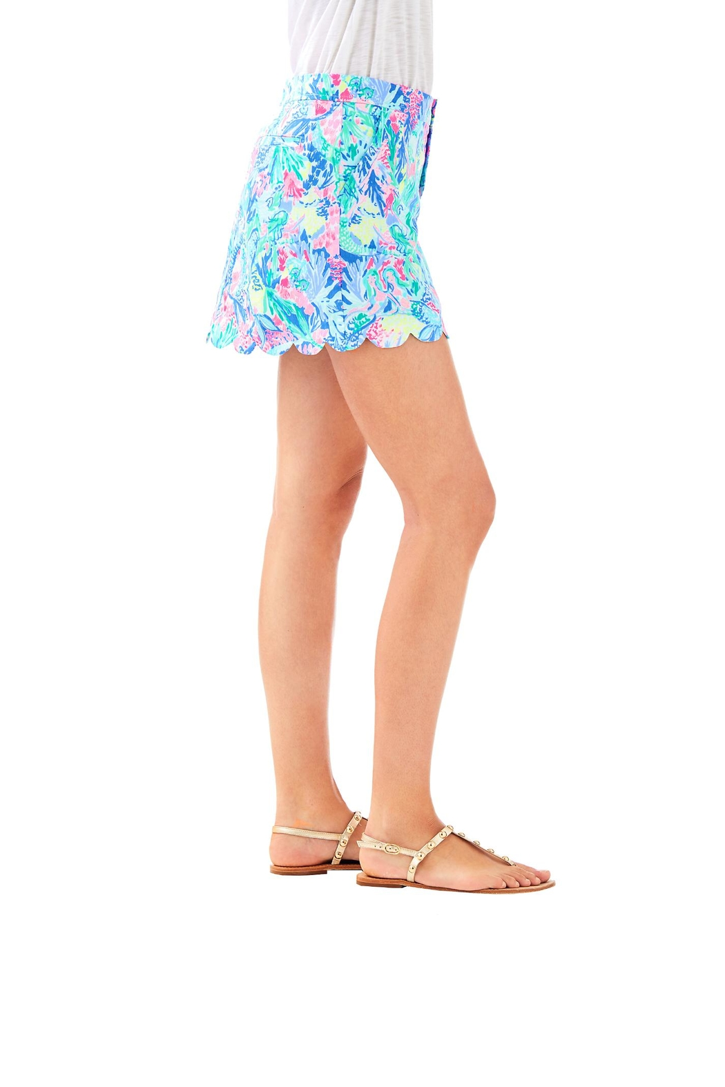Lilly Pulitzer Colette Scallop-Hem Skort - Side Cropped Image