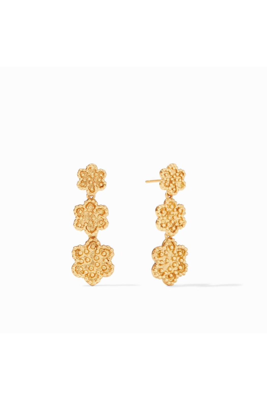 Julie Vos Colette Tier Earring Gold - Front Cropped Image