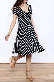 Colin Houlder Stripe Jersey Dress - Product Mini Image