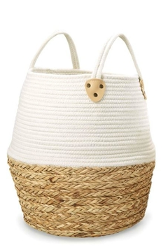 Mud Pie Collapsible Cotton-Straw Basket-Large - Product List Image