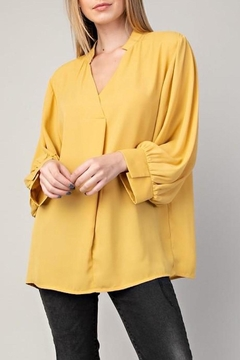 Shoptiques Product: Collar V-Neck Top
