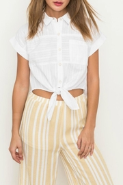 Hem & Thread Collared Crop Top - Product Mini Image