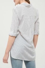 Blu Pepper Collared Embroidered Top - Side cropped