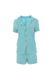Kickee Pants Collared PJ Set w/ Shorts - Product Mini Image