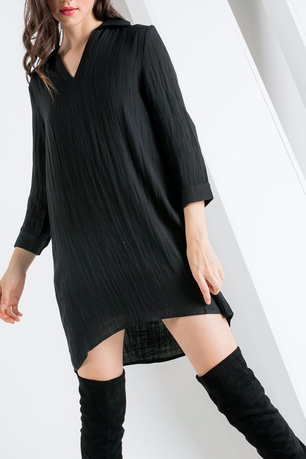 THML Clothing Collared Shift Dress - Side Cropped Image
