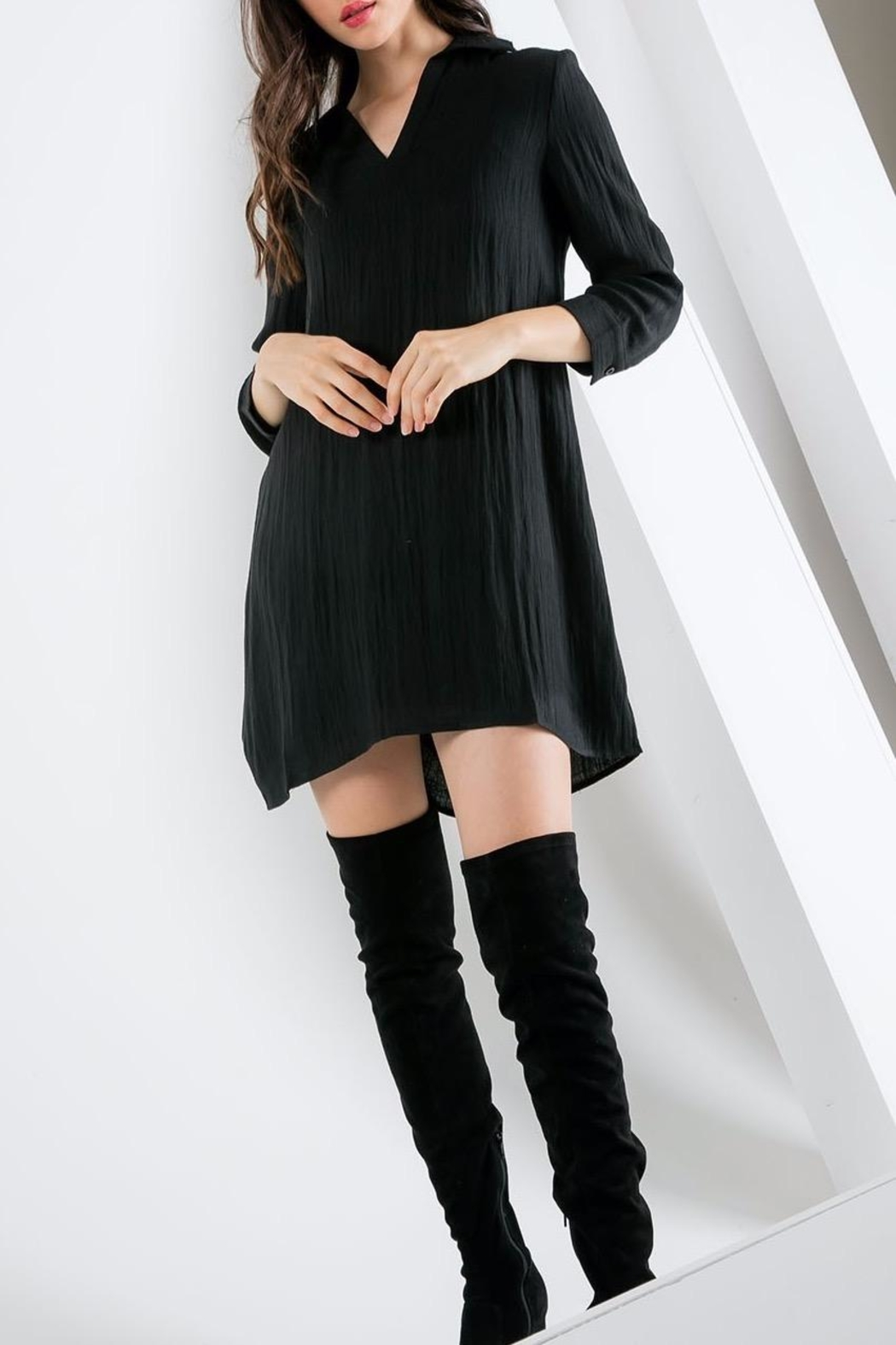 THML Clothing Collared Shift Dress - Main Image