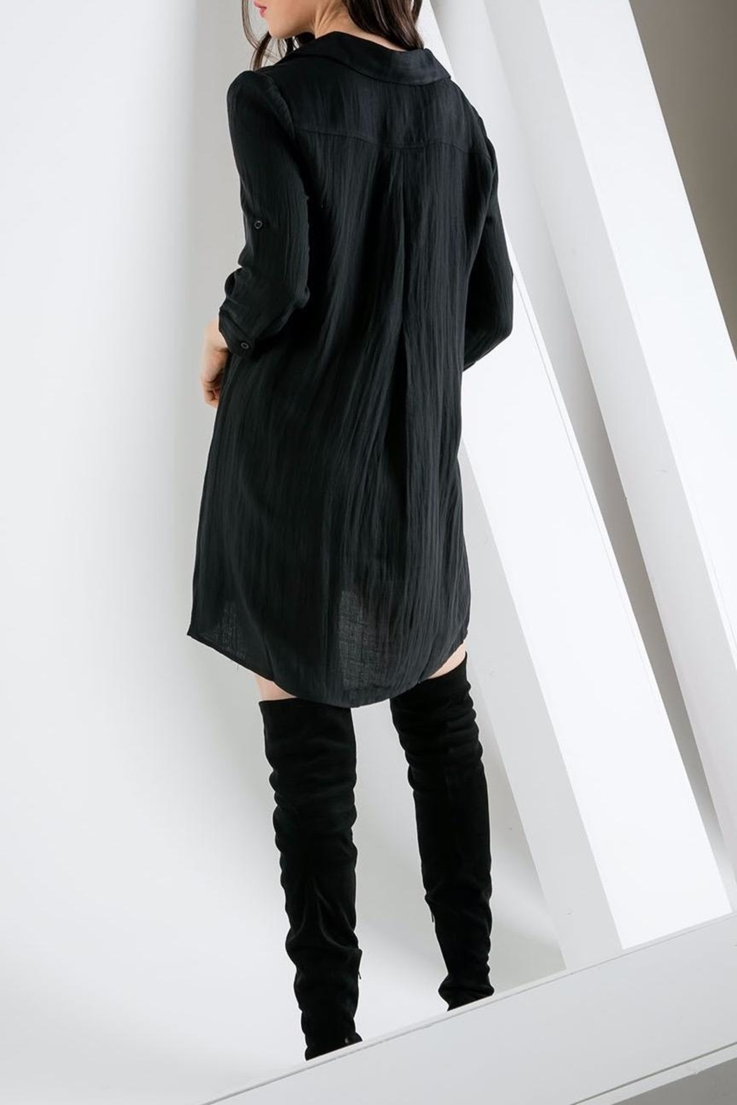 THML Clothing Collared Shift Dress - Front Full Image