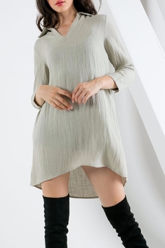 THML Clothing Collared Shift Dress - Product List Image