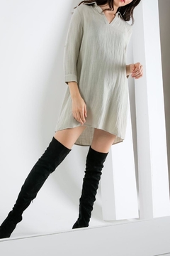 THML Clothing Collared Shift Dress - Alternate List Image