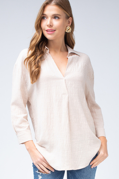 Entro Collared V-neck Top - Product List Image