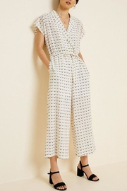 Hayden Los Angeles Collared Wide-Leg Print-Jumpsuit - Front full body