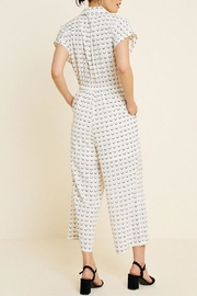 Hayden Los Angeles Collared Wide-Leg Print-Jumpsuit - Back cropped