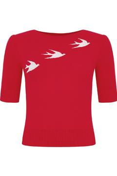 Collectif Chrissie Swallow Jumper - Product List Image