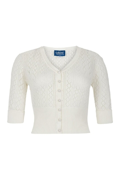 Collectif Linda Pointelle Cardigan - Product List Image