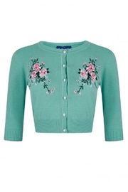 Collectif Lucy Embroidered Cardigan - Product Mini Image