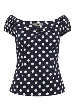 Collectif Retro Polka Top - Product List Image